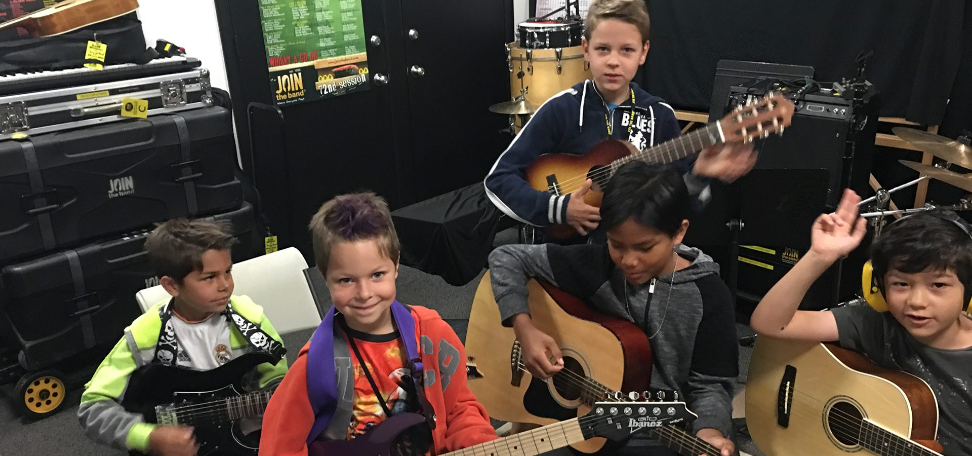 Intro to Music Camp - Kids Guitar Lessons - Sherman Oaks, Los Angeles - Join The Band