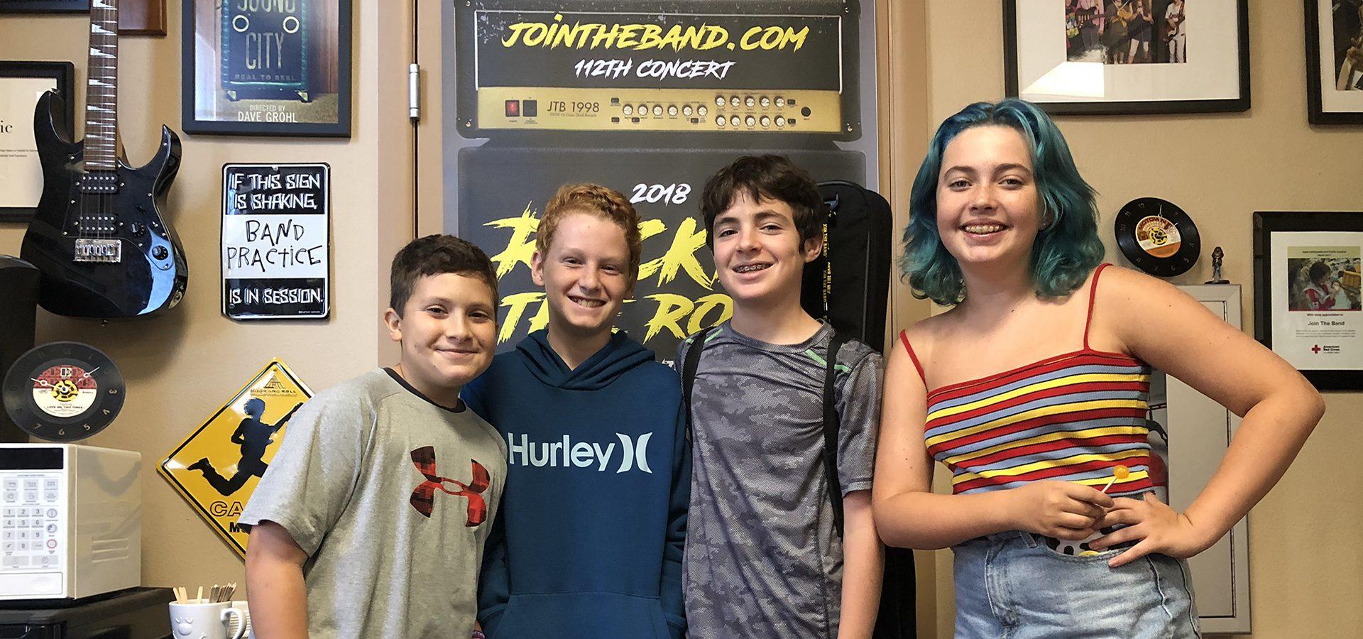 Rock Band Music Camp - Kids Band - Sherman Oaks, Los Angeles - Join The Band