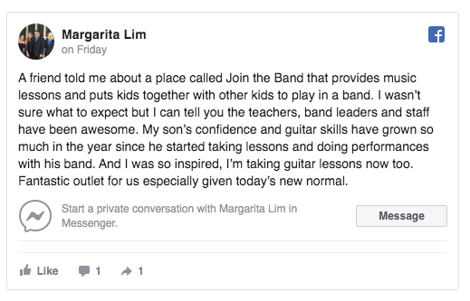 Facebook Review Join The Band
